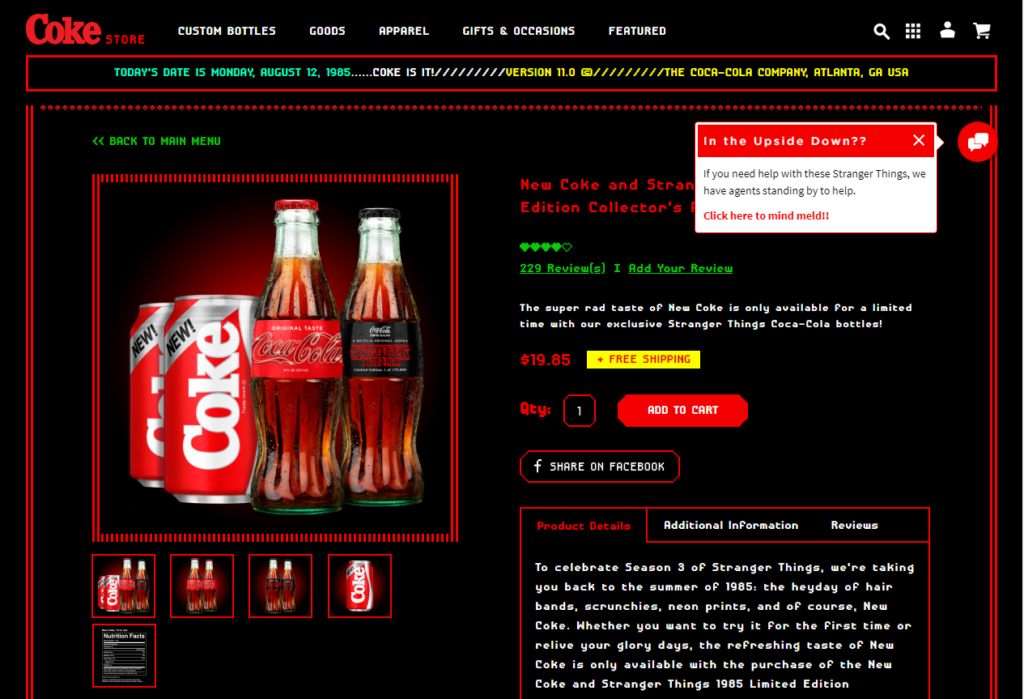 Stranger Things_Coke retro store