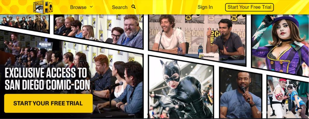 Disneyflix_A screenshot of ComicConHQ's website.