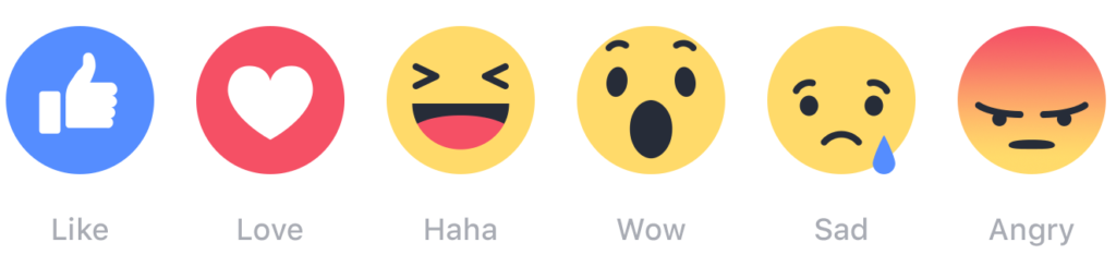GIFs_stickers_Emojis_A depiction of Facebook reactions.