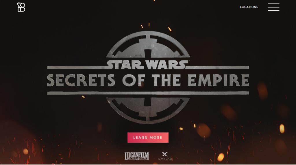 "Disneyflix_A screenshot of TheVoid's website, showcasing a ""Star Wars"" experience."