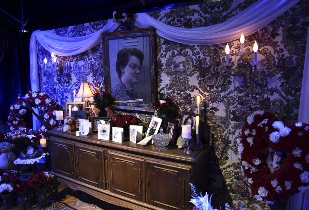 """A shrine in memory of """"Barb"""" from Netflix's Stranger Things series."""