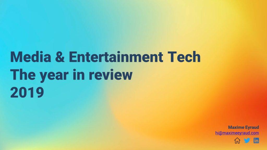 Media & Entertainment Review 2019 - header